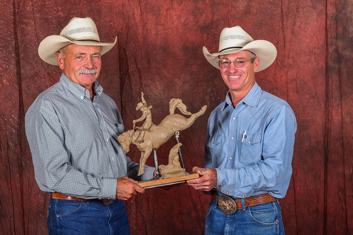 Tony and Clint with clay statue for web